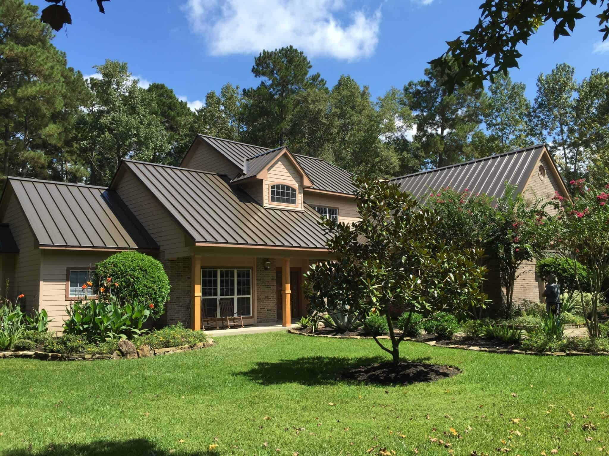Medallion-Lok Standing Seam Metal Roof - Medium Bronze