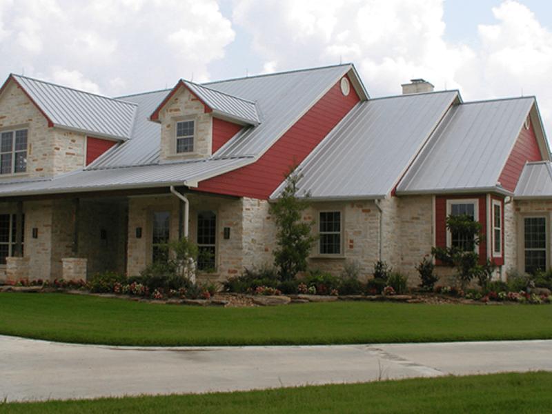 Wonderful Standing Seam Metal Roof. Texas Silver Metallic