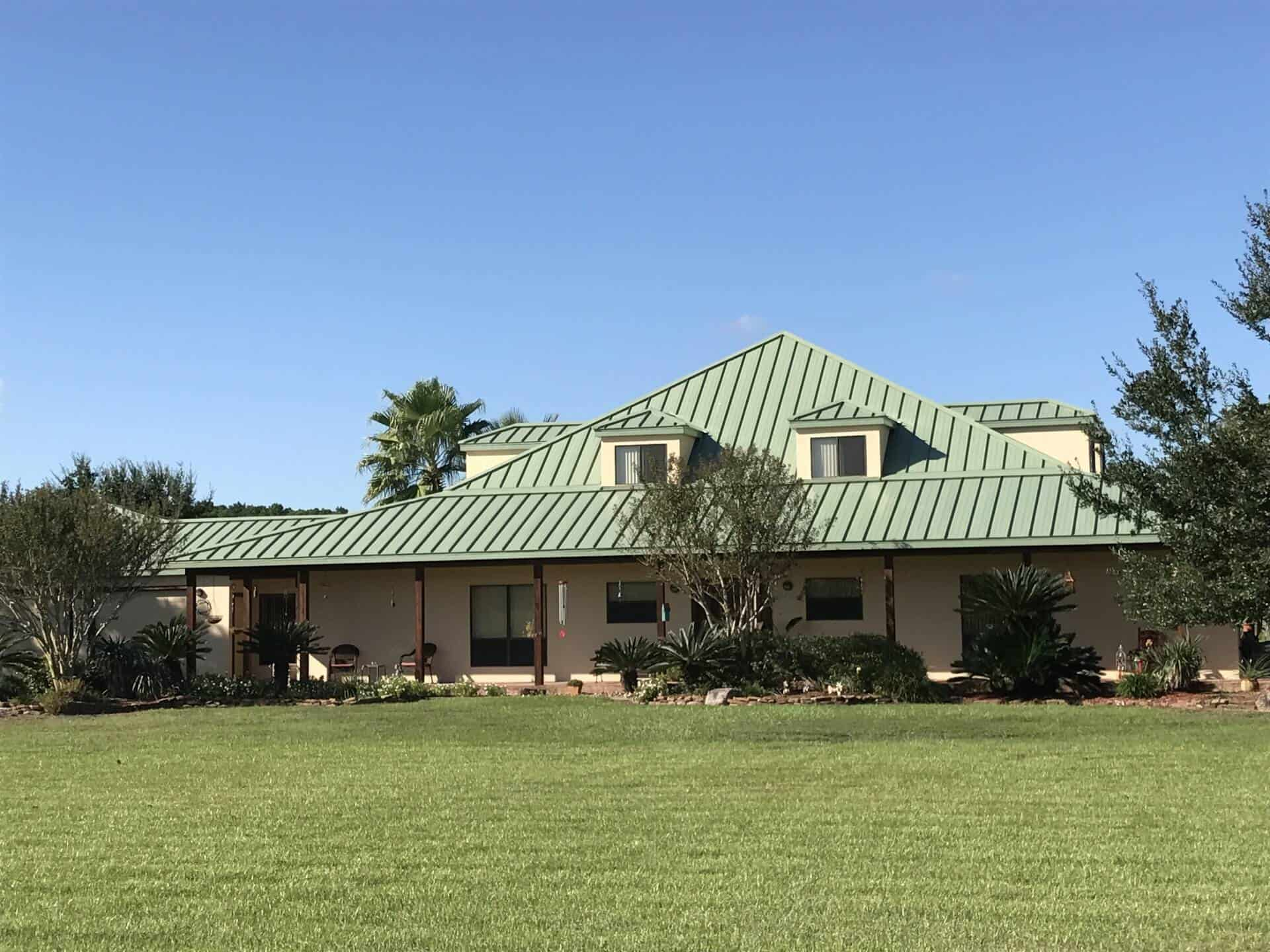 Medallion-Lok Standing Seam Metal Roof - Patina Green