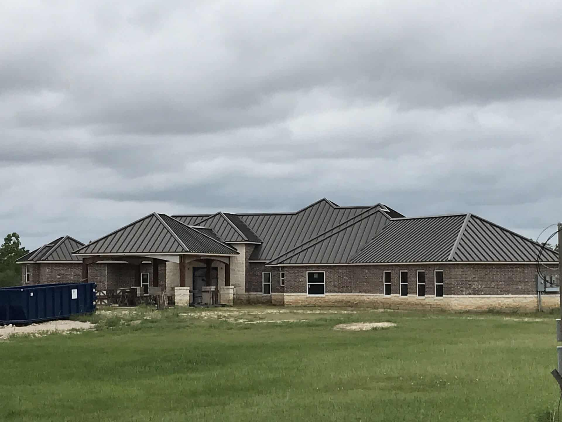 The Woodlands TX standing seam metal roof installation