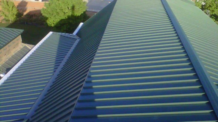 The Woodlands TX pan metal roofing